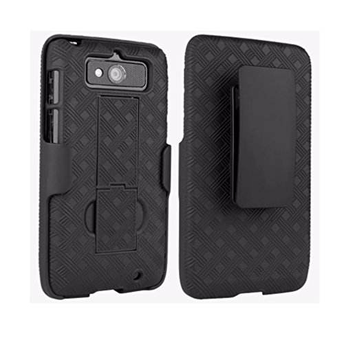 Verizon Shell Holster Combo Case with Kickstand for DROID MINI - Black