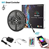 Nexlux LED Strip Lights, WiFi Wireless Smart Phone Controlled 16.4ft Light Strip LED Kit 5050 LED Lights,Working with Android and iOS System,Alexa, Google Assistant