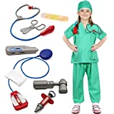 Doctor Surgeon Costume Kids Role Play Costume Doctor Fancy Dress Accessories Set Green