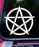 """Minglewood Trading ENDLESS PENTACLE 5"""" Vinyl Decal Sticker - PENTAGRAM Wiccan Pagan Witchcraft - 20 COLOR OPTIONS - - PURPLE"""