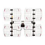 8 Element Bowtie Indoor/Outdoor HDTV Antenna - 70 Mile Range