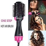 ZDATT Hot Air Hair Brush & Volumizer, 3-in-1 Salon Styling Hair Dryer and Styler, Negative Ion Straightening Brush Curl Brush, Multi-functional for Straight & Curly Hair. UL Swivel Wire b