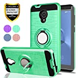 Alcatel IdealXtra Case,Alcatel 1X Evolve,Alcatel TCL LX Cases,with HD Phone Screen Protector,YmhxcY 360 Degree Rotating Ring & Bracket Dual Layer Resistant Back Cover for Alcatel 5059R-ZH Mint