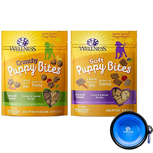 Wellness Puppy Bites for Dogs Variety Bundle 2 Pack (Lamb Salmon & Chicken Carrots) 1