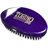 Torino Pro Wave Brush #1460 - By Brush King - Curved, Firm Medium Palm/Military 360 Waves Brush