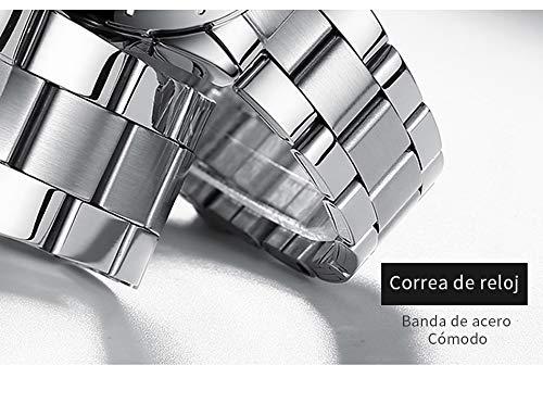 51DNX3jrXcL - EXCOVIP Últimas Cuarzo Reloj Analógica de Relojes de Pulsera De Acero Inoxidable, Vida cotidiana a prueba de agua de Oferta en Amazon