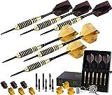 Professional Darts Set - Customizable Configuration 6 Steel Tip Darts 20/24g |12 Aluminum Shafts 35/48mm |12 Flights Standard/Slim |Darts Tool |Darts Sharpener and Case (20g/24g Cosmic Rays)