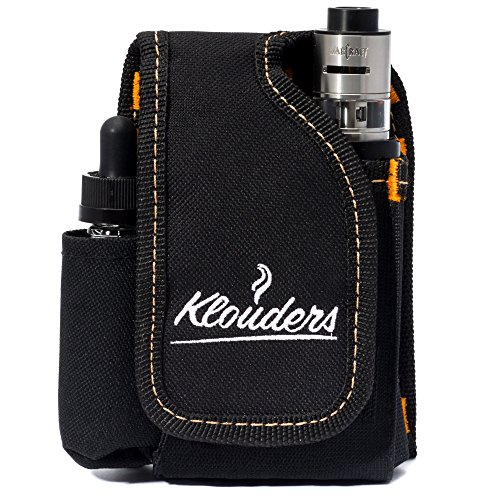 Vape Case Accessories Vapor Pouch for Travel Carrying Bag Holder to Carry Your Vape Box Mods Full Kit with Tank Vaping Supplies Holster Organizer for e Juice Battery Black Klouders [CASE ONLY]
