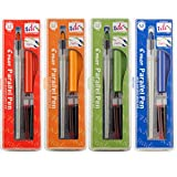 Pilot Parallel Calligraphy Pen Set, 1.5 mm, 2.4 mm, 3.8 mm and 6 mm with Bonus Ink Cartridge (P9005SET)