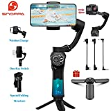 Snoppa Atom 3-Axis Foldable Pocket Sized Handheld Gimbal Stabilizer 310g Payload for GoPro Hero 4 5 6 iPhone Smartphone & Wireless Charging & 24 H Running time