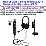 New UFQ A6 II ANR Aviation Headset-The Lightest ANR Aviation Headset in The World More Comfortable Clear Communication Great Sound Quality for Music with MP3 Input Free with A Bag Now