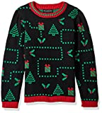 Blizzard Bay Boys' Big Pixel Presents Xmas Sweater, Black Combo, S 8/10