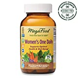 MegaFood, Women's One Daily, Daily Multivitamin and Mineral Dietary Supplement with Vitamins C, D, Folate and Iron, Non-GMO, Vegetarian, 90 Tablets (90 Servings) (FFP)