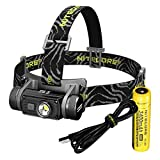 Nitecore HC60 Neutral White 1000 Lumen USB Rechargeable LED Headlamp, 3400 mAh Rechargeable Battery Plus LumenTac Adapters and USB Charging Cable