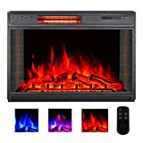 YODOLLA 28' Electric Fireplace Insert, Christmas Electric Fireplace Heater with Remote Control