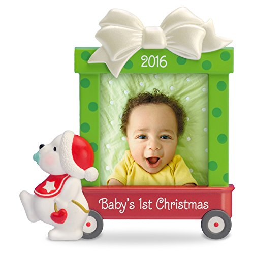 Hallmark Keepsake Baby's First 2016 'Beary Cute' Dated Picture Frame Holiday Ornament
