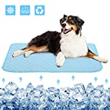 Dog Cooling Bed Mat, Pets and Cats Ice Silk Pad Cooling Blanket  Avoid Overheating, for Kennels,Crates,Beds,Couch,Car Seat, Help Your Pet Stay Cooler