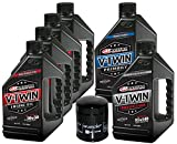 MaximaHiflofiltro VTTOCK12 Complete Engine Oil Change Kit for V-Twin Full Synthetic Harley Davidson Twin Cam, 6 Quart