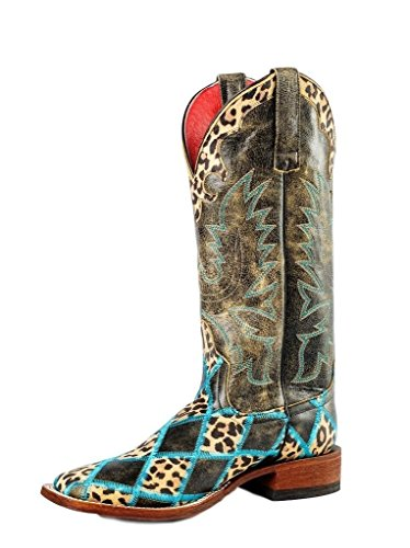 Macie Bean Western Boots Womens Jungle Leopard 6.5 B Black M9067