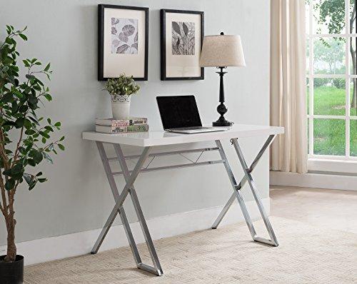 Kings Brand Furniture Modern Home Office Writing Workstation Computer Desk (White)
