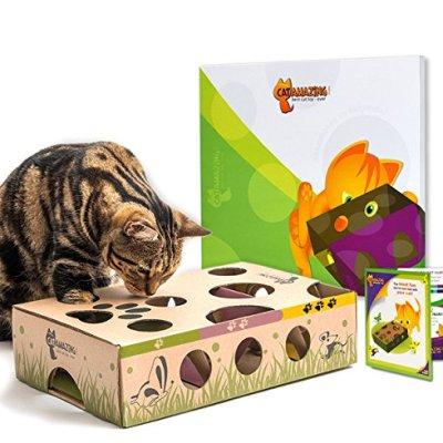 Cat Amazing – Best Cat Toy Ever! Interactive Treat Maze &...