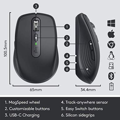 Logitech-MX-Anywhere-3-Compact-Performance-Mouse-Wireless-Comfort-Fast-Scrolling-Any-Surface-Portable-4000DPI-Customizable-Buttons-USB-C-Bluetooth-Graphite