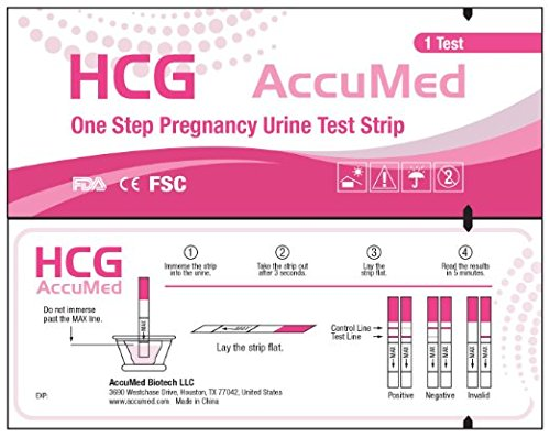 AccuMed Pregnancy Test Strips, 25-Count Individually Wrapped Pregnancy Strips, Early Home Detection Pregnancy Test Kit, Clear HCG Test Results, Over 99% Accurate