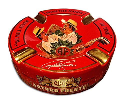 "Limited Edition Large 8.75"" Arturo Fuente Porcelain Cigar Ashtray"