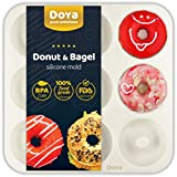 Premium Silicone Donut Pan - Best For Baking Full Size Doughnuts | 100% Food Grade Silicone Donut Mold | 9 Cavity Doughnut Pan/Bagel Pan Makes A Great Gift | Free Ebook