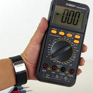Sinometer VC9805A+ Multimeter with Capacitance and Inductance and Temperature Measurement, Transistor Docking with Back Light on a Large LCD