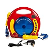 IQ Toys Portable Sing Along CD/USB/SD Player Anti Skip, with 2 Microphones & AC Adapter