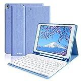 iPad Keyboard Case 10.5 with Pencil Holder iPad Air 3 Case with Keyboard,iPad Pro 10.5 Keyboard Case, Detachable Wireless Bluetooth Keyboard Protective Case for iPad Pro 10.5 2017/ iPad Air 3rd Gen