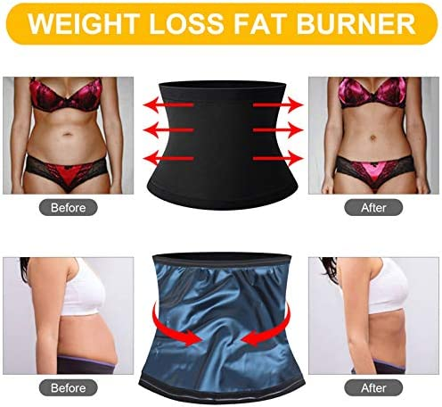 Waist Trainer for Women Weight Loss Everyday Wear,Waist Trimmer Sauna Sweat Workout Shaper Enhancer Body Slimmer Sauna Slimming Belt for Stomach Weight Loss Fitness Sweat Belt Abdominal Trainers S&M 2