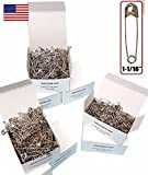 NiftyPlaza 500 Pcs Safety Pins 1-1/16' Premium Quality Industrial Strength - Durable, Rust-Resistant Nickel Plated (500 Safety Pins)