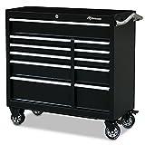 "Montezuma Tool Box - 41"" 11-Drawer Roller Cabinet with 20 Gauge Steel Construction & Black Powder Coat Finish - BK4111TC"