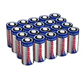 Tenergy 3V CR123A Lithium Battery, High Performance 1500mAh CR123A Cell Batteries PTC Protected for Cameras, Flashlight Replacement CR123A Batteries, 20-Pack