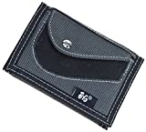 JEMINAL New Canvas Short Trifold Grey Men's Boys Wallet with with Coin Pocket