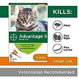 Bayer Advantage II Flea Treatment for Small Cats, 5 - 9 lb, 6 doses