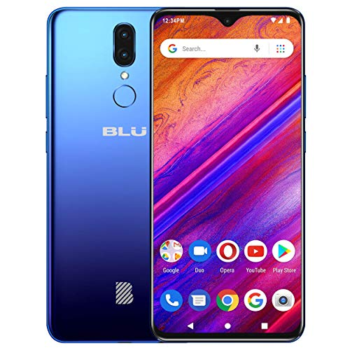 BLU G9 - 6.3' HD Infinity Display Smartphone, 64GB+4GB RAM -Blue (Renewed)