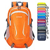ZOMAKE Ultra Lightweight Hiking Backpack - Packable Durable Water Resistant Travel Backpack Daypack for Women Men(Orange)