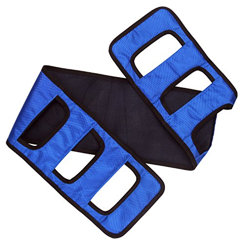 Transfer Sling gait Belt Patient Lift Transfer Board Transferring Turning Handicap Bariatric Patient Patient Care Safety Mobility Aids Equipment (Blue)