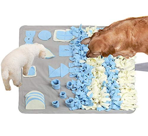 Pet Food Puzzle Snuffle Mat - Dog Nose Work Snuffle Blanket,Feeding Mat for Dogs...