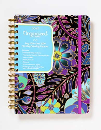 Posh: Organized Living 2018-2019 Monthly/Weekly Planning Calendar: Midnight Garden