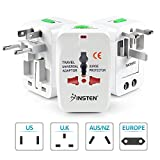 Insten Universal Worldwide Travel Adapter for 150+ Countries, International Power Charger, European Adapter, Wall Charger Power Plug for USA EU UK AUS Compatible w/ iPhone, iPad, Samsung Galaxy & More