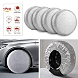 Kohree Tire Covers Tire Protectors RV Wheel Motorhome Wheel Covers Sun Protector Waterproof Aluminum Film, Cotton Lining Fits 27 inches to 29 inches Tire Diameters Set of 4