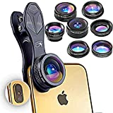 RETINA 7 in 1 IPhone Lens - Transform Your iPhone Into A Professional Quality Camera - Fish Eye - Wide Angle - Zoom for IPhone X, 8, 8 Plus, 7, 7 Plus, 6s, 6, 5s & Most Smartphone