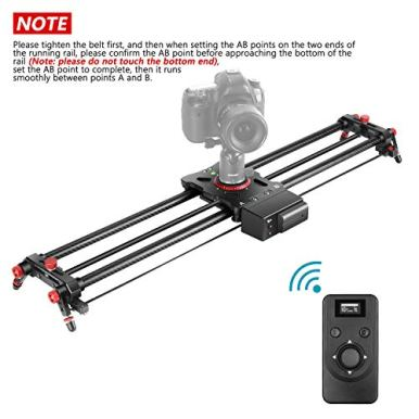 Neewer-Motorized-Camera-Slider-315-inch-24G-Wireless-Control-Carbon-Fiber-Track-Rail-with-Mute-MotorTime-Lapse-Video-ShotFollow-Focus-Shot120-Degree-Panoramic-Shot-for-DSLRs-Load-up-to-22-lbs