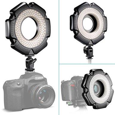 Neewer-R-160-160-Pieces-5600K-10W-Mini-LED-Macro-Ring-Light-with-6-Adapter-Rings-49mm52mm55mm58mm62mm67mm-for-Macro-CanonNikonSonySigmaTamron-Lens