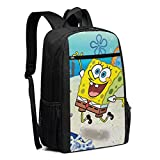 Travel Laptop Backpack Spongebob Squarepants In The Sea College School Bookbag Computer Bag Casual Daypack For Women Men