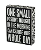 Primitives by Kathy 22675 Floral Trimmed Box Sign, 6' x 8', Positive Thought